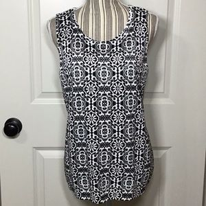 Chico's Tile-Print Sweater Tank, Large